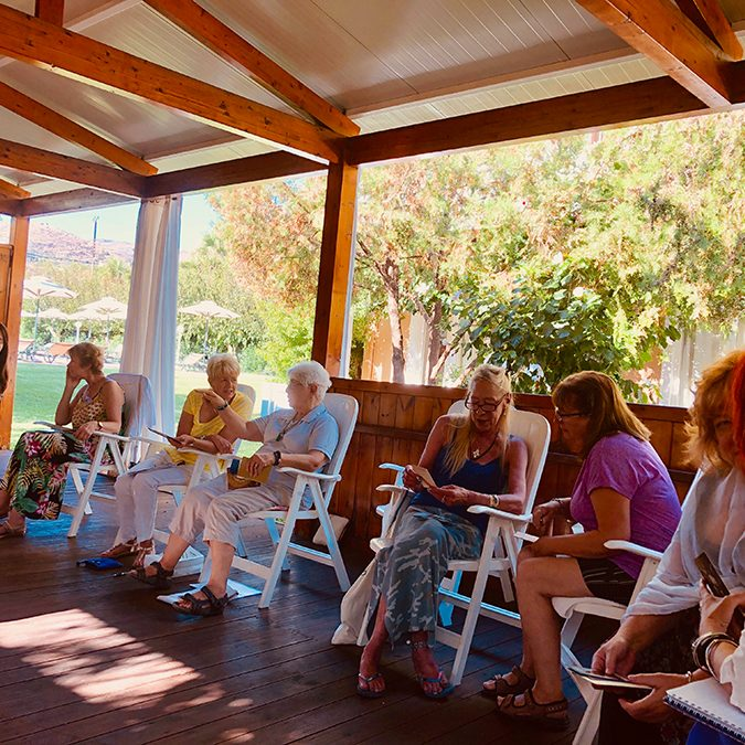 Chrissie Astell Spiritual Retreat in Crete 2019